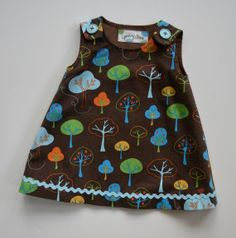 Aline dress or jumper for toddler or baby girl by GrannyAnnieKids, $35.00