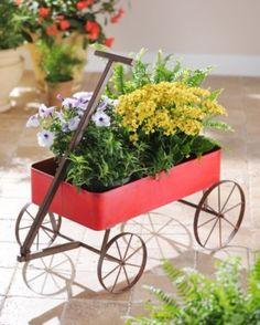 Rustic Red Metal Wagon #kirklands #entertaininstyle #wagon