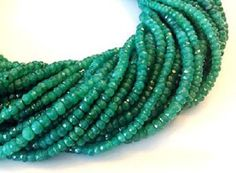 $3.79--Green Emerald Beads 9 to 24 Pieces 4-4.5mm Natural AAA Faceted Rondelle Precious Gemstones Take 10% Off Bridal Jewelry Craft Supplies Sale