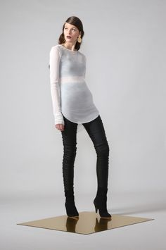 mesh skin / ivory by Moochi. Everyday luxury, from off-duty essentials to coveted designer pieces. Off Duty, Winter 2017, Knee Boots, Ivory, Mesh, Stuff To Buy, Collection, Fashion, Moda