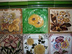 More Victorian tiles by the vintage cottage, via Flickr