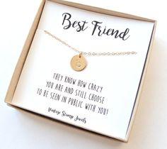 Best Friend Gift/ Initial Necklace/ Best by vintagestampjewels