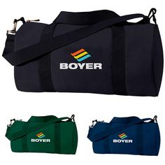 The Custom Branded Clipper Barrel Duffle is a great giveaway for any event. It is a simple barrel duffle with zipper closure and adjustable/removable shoulder strap.