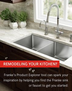Remodeling your kitchen? Franke's Product Explorer tool can spark your inspiration by helping you find the Franke sink or faucet to get you started.