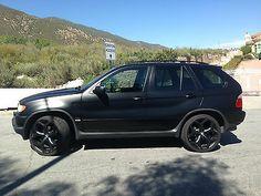Bmw Black, Black Cars, Matte Black, 22 Wheels, Wheels For Sale, Bmw X5 For Sale, Bmw X5 E53, Car Game, Used Bmw