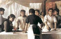 Marie-Louise Petiet, Les Blanchisseuses - 1882