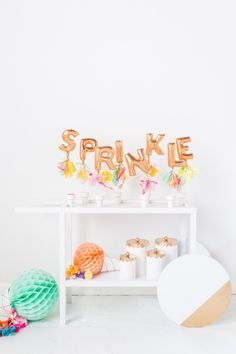 DIY ikea hack ice cream cart and sprinkle bar | sugarandcloth.com