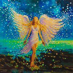 Nova Era, Star Images, Angel Pictures, Images Google, Angel Art, Art Store, Fantasy Art, Marie, Original Paintings