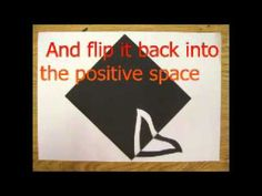 Notan - Creating a design using positive and negative space.m4v - YouTube -- more complex style - each shape has multiple layer of pos/neg