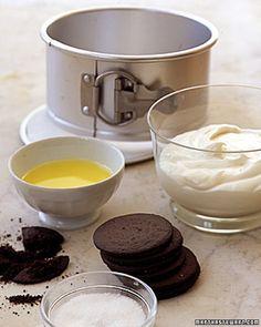 No-Bake Chocolate-Crust Cheesecake Recipe