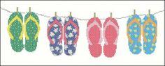flip flops cross-stitch chart