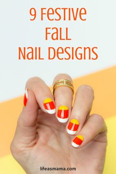 If you are looking for new nail design to try this fall, I love these! They are festive, fun and sure to make your season more enjoyable.