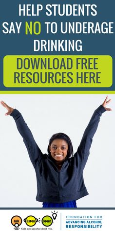 Calling all teachers, counselors and educators. Download free lesson plans and curriculum to help your students say no to underage drinking. Free printables, classroom activities and videos. Plus a message from Simone Biles.