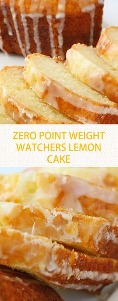 """This Weight Watchers Lemon Pound Cake is always given """"two thumbs up"""" by everyone who tastes it! I love that it's a simple recipe, and even better news this Weight Watchers Lemon Pound Cake is Weight Watchers Kuchen, Points Weight Watchers, Weight Watchers Snacks, Weight Watcher Recipes, Weigh Watchers, Healthy Recipes, Skinny Recipes, Ww Recipes, Gourmet Recipes"""