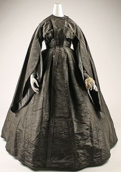 Dress 1867, American, Made of silk and cotton