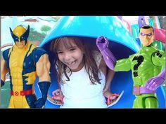 Wolverine X-Man Charada Riddler Marvel DC Comics Crianças brincando Kids...