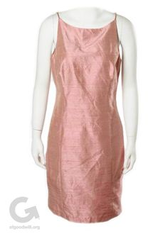 Goodwill Fab Find- Dusty Rose Silk Evening Dress by Laundry
