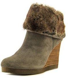 Lucky Brand Torynn Women Round Toe Leather Ankle Boot. Wedge Boots, Leather Ankle Boots, Lucky Brand, Wedges, Toe, Fashion, Moda, Leather Booties, Fashion Styles