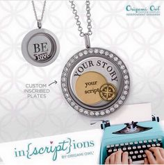 #Custom inscribed plates and #lockets from #OrigamiOwl. Join my team for a #discount and to earn extra cash. #gifts for #weddings #anniversary #birthdays and more. Double click to view my website. Valeriecraven.origamiowl.com