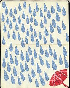 lluvia #illustration #rain #umbrella