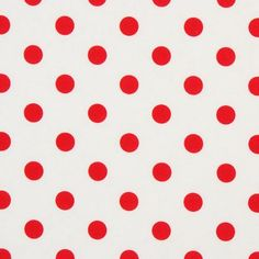 polka dots red white print pattern fabric
