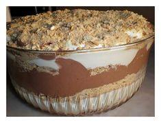 Receitas práticas de culinária: Sobremesa de Chocolate com natas e bolacha maria