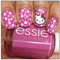 Hello kitty nails by imichelley