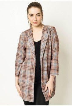 Chictees Checkered Coat Jacket #onlineshop #onlineshopping #lazadaphilippines #lazada #zaloraphilippines #zalora