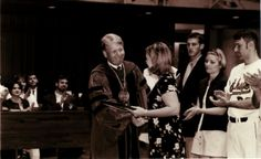President Campbell giving away an award, 1990s :: Staubitz Archives Digital Images