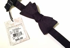 Turnbull & Asser Men's Black Silk Adjustable Bow Tie Dress Formal Bowtie NWT #TurnbullAsser #BowTie #Formal #Neckwear #MensFashion #Silk