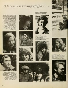 """Spectrum Green yearbook, 1976. """"OU's most interesting graffiti..."""" :: Ohio University Archives"""