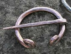 """Small Smooth Copper Penannular by Brooches, Penannulars and Kilt Pins. $43.00. Great Kilt Pin, Cloak Pin, Cape Pin for Renaissance or Middle Ages. Excellent for Viking, Dark Ages, Medieval, Renaissance or other impressions. Small Smooth Copper Penannular Size: 2"""" Diameter (varies slightly- each hand made). Great for Medieval, Viking, Norseman, Saxon, Anglo, Norman, or Renaissance impression!. Small Smooth Copper Penannular Size: 2"""" Diameter (varies slightly- each ..."""