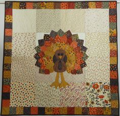Turkey Turkey made using Awesome by Sandy Gervais fabric and tutorial by Missouri Star Quilt Company. Calling BayerTurkey made using Awesome by Sandy Gervais fabric and tutorial by Missouri Star Quilt Company. Missouri Star Quilt Tutorials, Quilting Tutorials, Quilting Projects, Quilting Designs, Msqc Tutorials, Applique Designs, Sewing Projects, Dresden Plate Quilts, Star Quilts