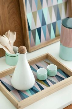 ferm living... I like the simplicity and color but with the pattern so much fun!
