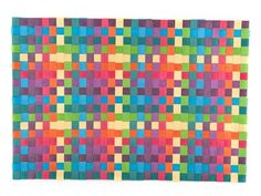 WOVEN PLASTIC P/MAT 33X48 MULT  Also available in shades of blue or orange