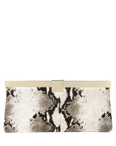 Exotic leather clutch bag - Black | Bags | Ted Baker UK