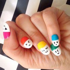 This mani, by celebrity nail pro Steph Stone, was inspired by Bradley Kenneth's Smiley Pills sunglasses. Cheeky? For sure. But, also, the perfect juxtaposition of polished and playful.