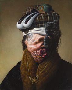 "Rushin' Lyin', 2012, 20x16"" by Christian Rex van Minnen"