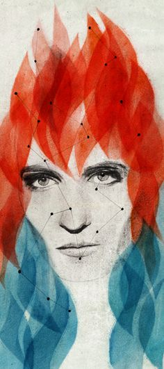 Julie Massy: Florence Welch, Florence and the machine. Drawing