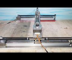 Homemade Mini Laser Engraving Plotter Frame with DIY X  Y Axis Linear Slide CNC
