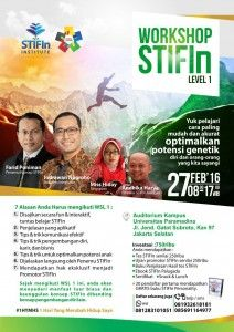 Workshop STIFIn Level 1 - Rumah STIFIn Makassar
