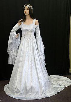 Handfasting medieval wedding dress LOTR Renaissance princess gown custom made on eBay!
