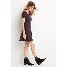 Forever 21 Striped Skater Dress ($13) ❤ liked on Polyvore