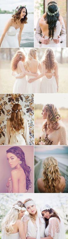 Natural Bridesmaids Hairstyles