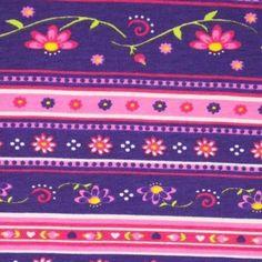 Purple Floral Stripes, Cotton Spandex Floral Stripe, Cotton Spandex, Color Schemes, Hot Pink, Coin Purse, Stripes, Yellow, Purple, Colour Schemes