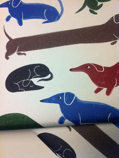 {weenie dog wrapping paper} by Ping Zhu - love this!!