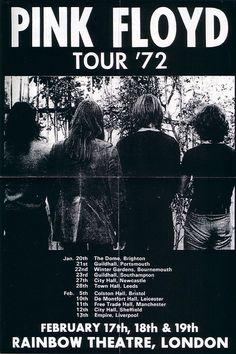 Pink Floyd, concert poster