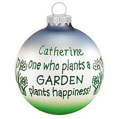 """One who plants a garden"" ornament"