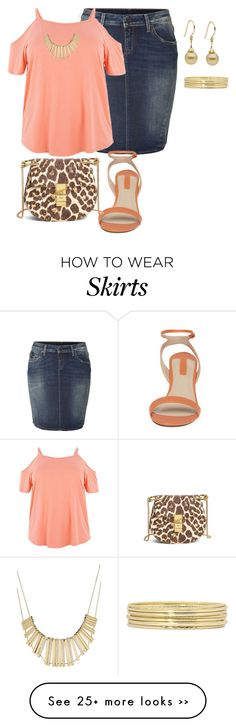 """""""my plus size denim skirt style look3/simple summer date night"""" by kristie-payne on Polyvore"""