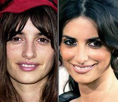 These before-and-after photos illustrate the power of makeup.